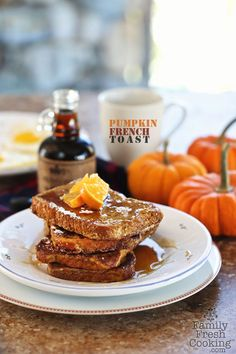 Pumpkin French Toast | FamilyFreshCooking.com