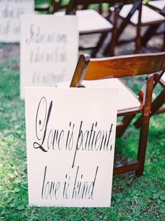 Love is patient, lov...