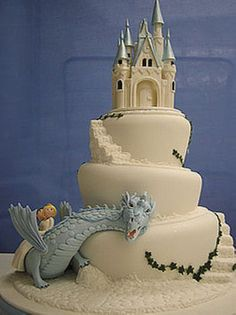 dragon castle cake dragons, weddings, dragon cakes, fairy tales, wedding cakes, cake designs, castle cakes, cake toppers, birthday cakes