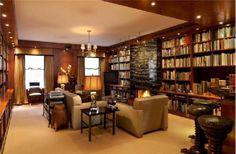 Home library design - Home and Garden Design Ideas