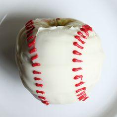 White Chocolate Apple Baseballs how-to