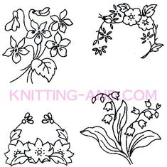 Small flower embroidery patterns flower embroideri, embroidery patterns, embroideri pattern, 01 secret, embroideri motif, livr secret, flowers