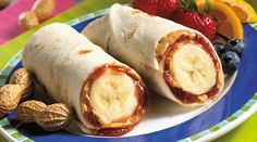 th whole wheat wraps...i LOVE PB and bananas!