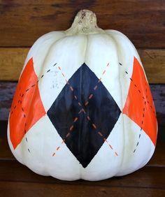 Argyle pumpkin
