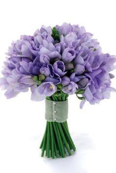 lavender freesia bouquet