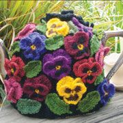 Pansy cozy.  This is so pretty!