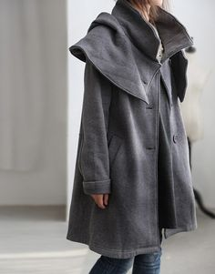 Cotton Two kinds wear a method coat by MaLieb on Etsy, $96.00