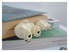 Pair of  Bears Polar or Grizzly  Book Mark Set  by CatrinasToybox, $38.00