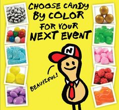 Have an event coming up? A candy buffet is great for any occasion. Use our candy by color feature to coordinate with your party colors. Nuts.com #NutsDotCom @Ann Hite-massey.com #wedding