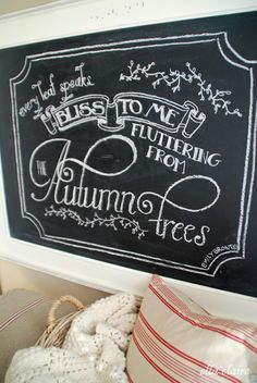 {Ella Claire}: Autumn Chalkboard~ Free Template and Printable!