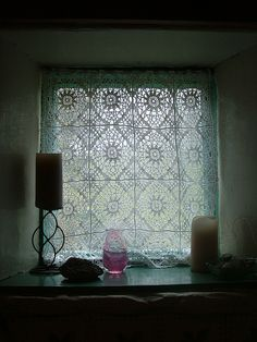 Crochet Curtain by lomiruco, via Flickr