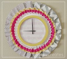 pretty pleated clock tutorial