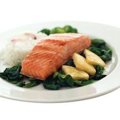 SALMON  When you eat fish like salmon that are high in omega-3 fatty acids, your body increases the amount of the hormone leptin in your system. Leptin is known for suppressing hunger. Don't like salmon? Try tuna and herring, which are also high in omega-3s!