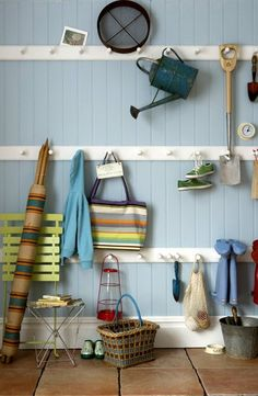 Love this mudroom storage solution!