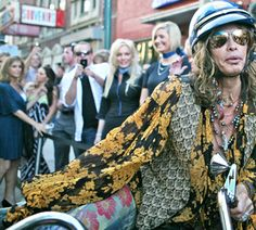 Steven Tyler at Boston Common magazine launch party