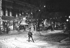 I love It's A Wonderful Life. (this snow scene in his town)