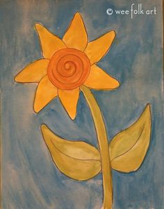 Cheerful Sunflower Coloring Page   Wee Folk Art