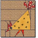 Silly Chicken Paper Pieced Quilt Block