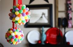 Homemade Christmas Ornaments for Kids Decoration Rainbow Style