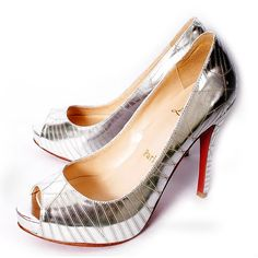 Pin Favor Out,Christian Louboutin Mirrored Platform Pumps Silver-203