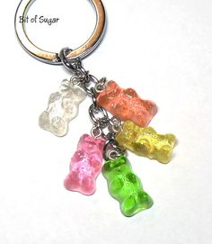 Gummi Candy Bear Keychain  cute kawaii gummy look by BitOfSugar, $15.00