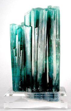 crystals, tourmalin var, afghanistan, blue green, stone, rocks, minerals, blues, natural art