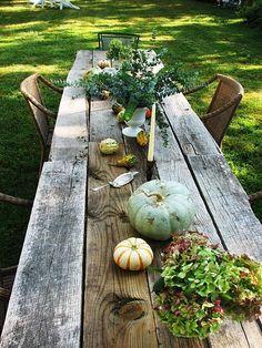 Rough Wood Farm Table