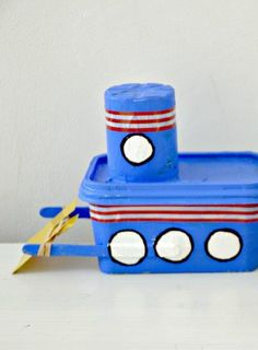 Self Propelled Tug Boat Kids Craft--great for gadgets camp!