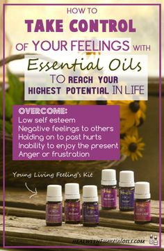 How to take control of your feelings with essential oils - How to use the Young Living Feelings Kit.  Find out how I totally transformed myself and turned my negative emotions into a positive and confident attitude!  #YLEO #lemondropper
