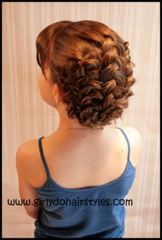 #Braided Up #Hairstyle. So easy to recreate. #Tutorial #Prom