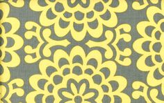 Amy Butler Lotus Yellow and Grey Fabric