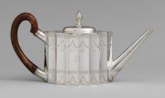 Teapot, 1796 -   Paul Revere, Jr. (American, 1734–1818)  Silver coffe, silver teapot, teapots, museums, tea cup, art history, antiqu, design, paul revere silver
