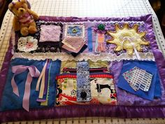 Fidget quilts for Alzheimer,Dementia,  Stroke ,Brain Trauma Patients., Hand Therapy, Rehap., Sensory Integration and Autism
