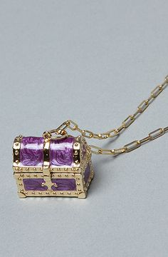 Disney Couture Mermaid Series undersea treasure box necklace