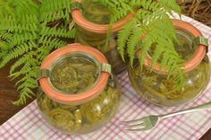 RECIPE FOR FIDDLEHEADS PRESERVED IN LEMON:
