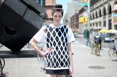 Easy, breezy mesh shirt DIY...photo by Lia Schryver.