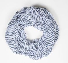 Made in the USA gift ideas: Navy cotton gauze scarf by Graymarket Designs