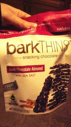 If you haven't tried these yet, you haven't lived. Dark Chocolate Almond Bark. Other awesome flavors available, too! #barkTHINS #BeFair #FairTrade