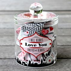 Valentine Date Jar~ Cute idea