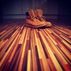 Because you're mine, I walk the line. #timberland #yellowboots walk