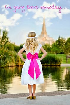 Stephanie Foster Photography: Chloe Turns 8!  LDS Baptism Photo Shoot #mormon #gilberttemple