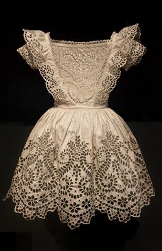 cutwork embroideri, victorian child dresses, art, aprons, children, embroidery stitches, baby dresses, belts, antiques