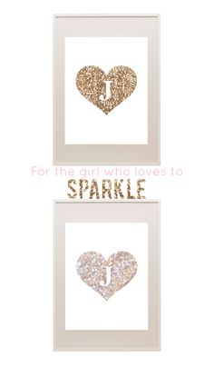 Free sequin printable monograms - in gold and blush pink