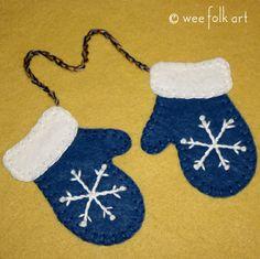 Warm Woolen Mittens | Wee Folk Art