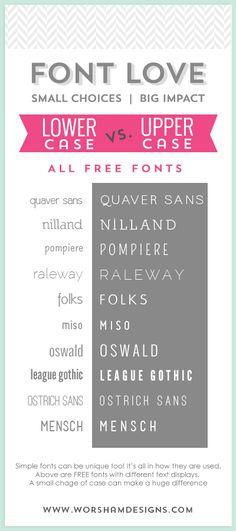 10 FREE Simple Fonts  |  Worsham Designs