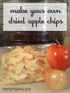We LOVE making dried apple chips in the fall. Erica gives good tips for getting them to stay a nice color.