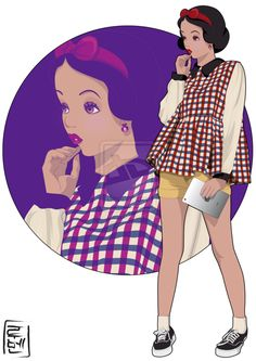 21 More Disney Characters As Modern College Students students, colleges, disney princesses, snowwhite, colleg student, disney univers, monster university, disney characters, snow white