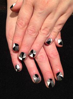 white nail, geometr nail, illustr nail, nail stuntdolli, nail nail