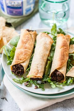 Slow-Cooked Black Beans and Poblano Pepper Baked Taquitos | mycaliforniaroots.com | #vegan #glutenfree #recipe #mexican