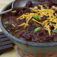 Beef and Bean Chili with Bittersweet Chocolate